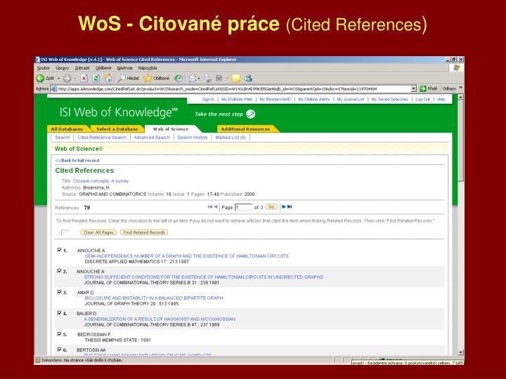 WoS - Citované práce