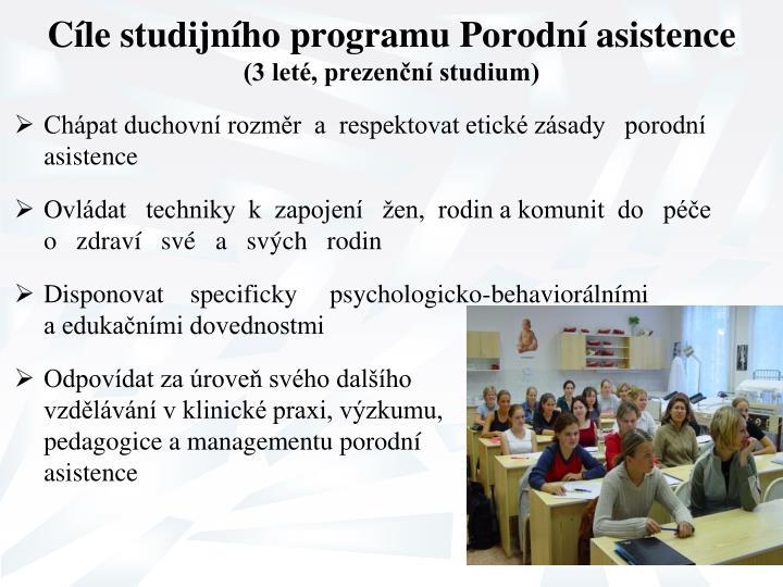 Cíle studijního programu Porodní asistence