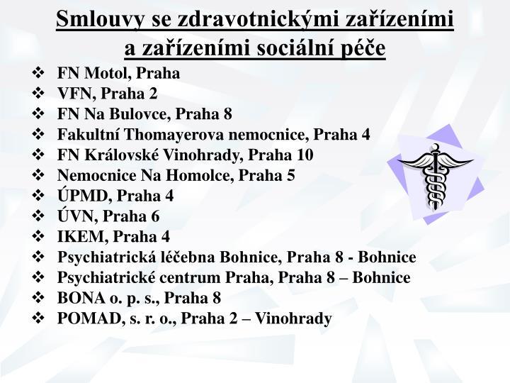 Smlouvy se zdravotnickými zařízeními