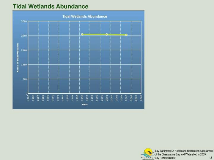 Tidal Wetlands Abundance