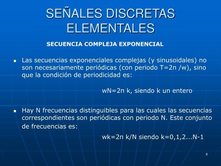 SEÑALES DISCRETAS ELEMENTALES