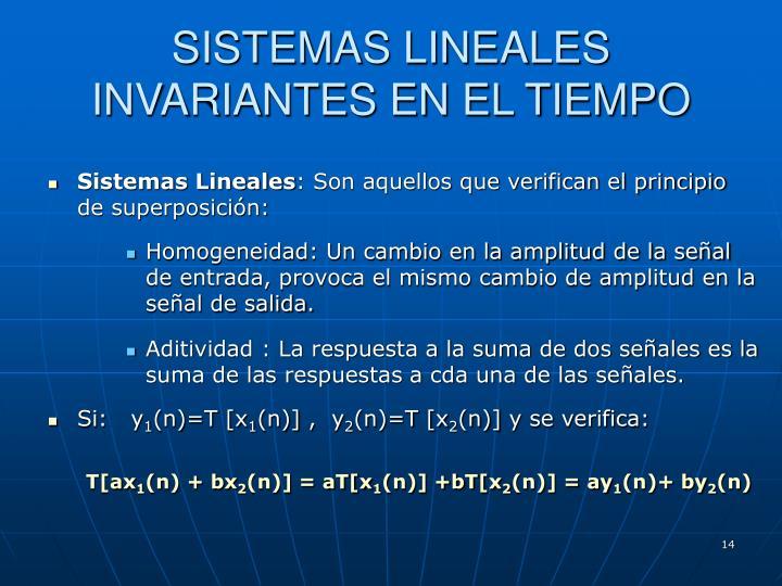 SISTEMAS LINEALES INVARIANTES EN EL TIEMPO
