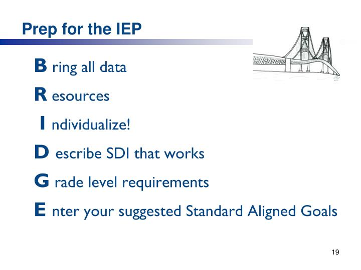 Prep for the IEP