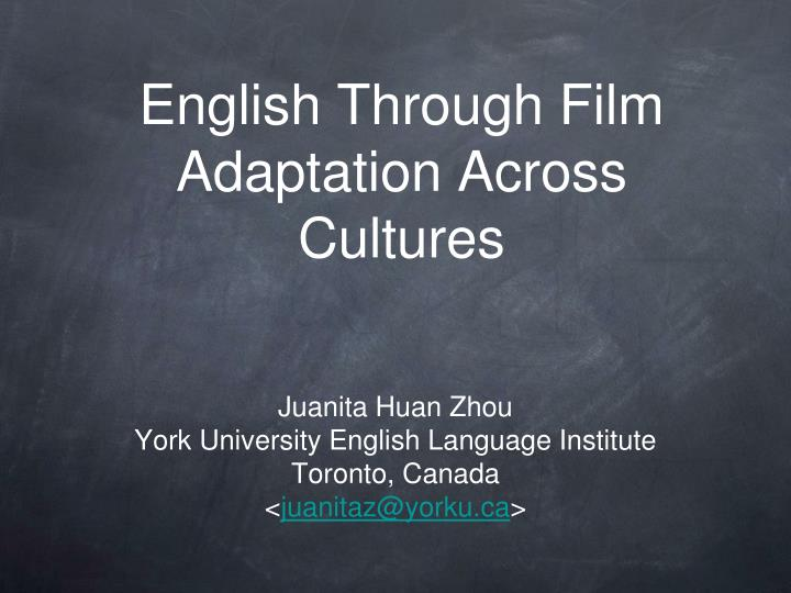 English through film adaptation across cultures