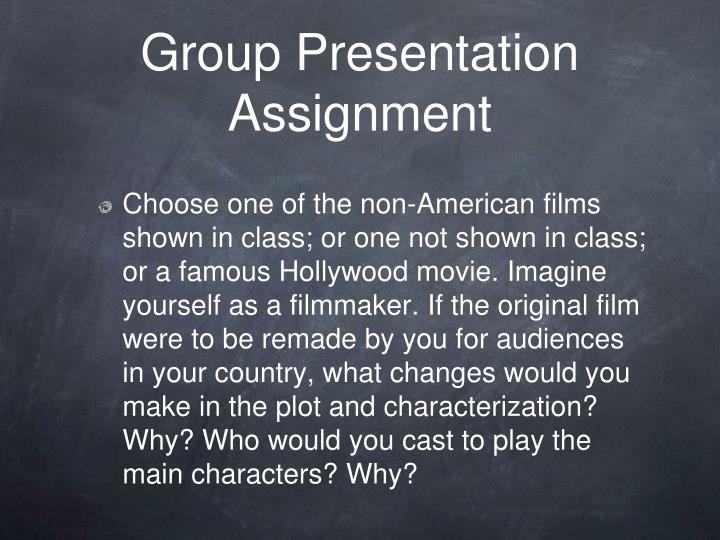Group Presentation Assignment