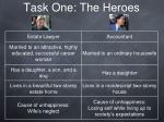 task one the heroes