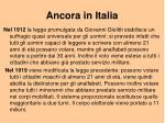 ancora in italia