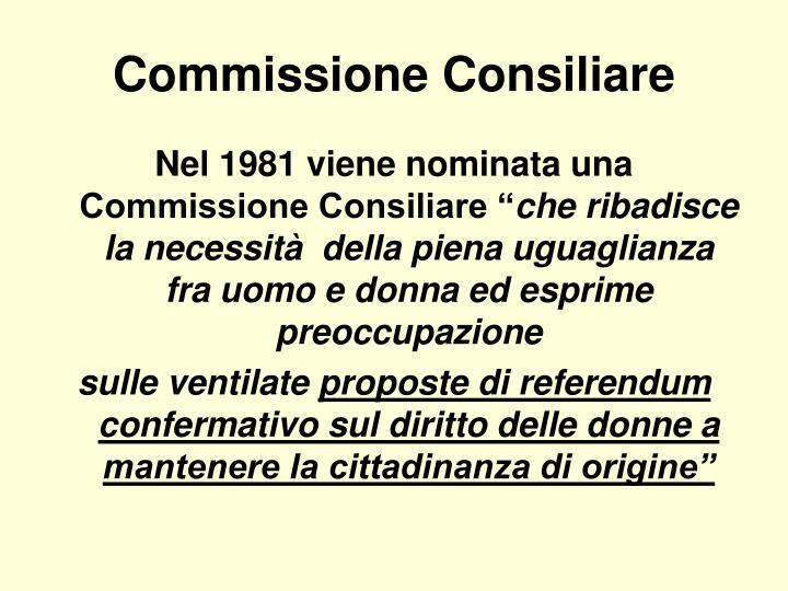 Commissione Consiliare