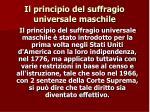 il principio del suffragio universale maschile