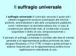 il suffragio universale