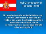 nel granducato di toscana 1848