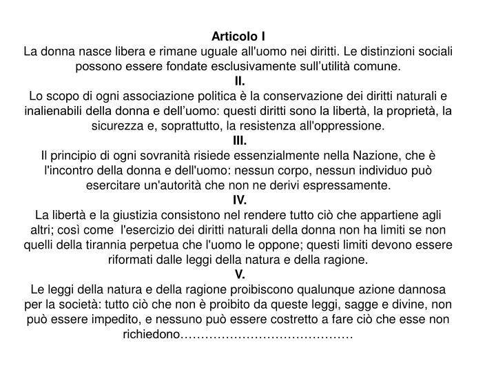 Articolo I