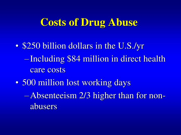 Costs of Drug Abuse