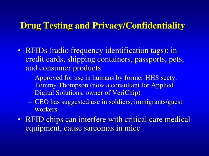 Drug Testing and Privacy/Confidentiality