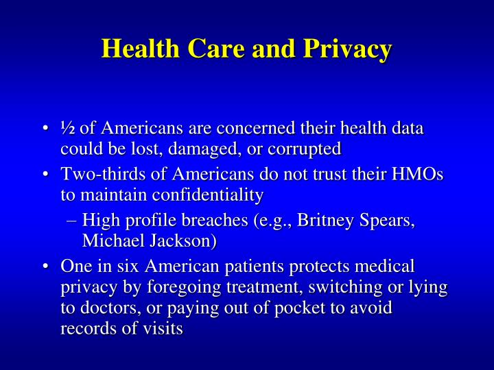Health Care and Privacy