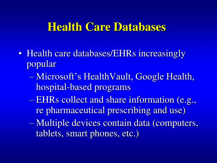 Health Care Databases