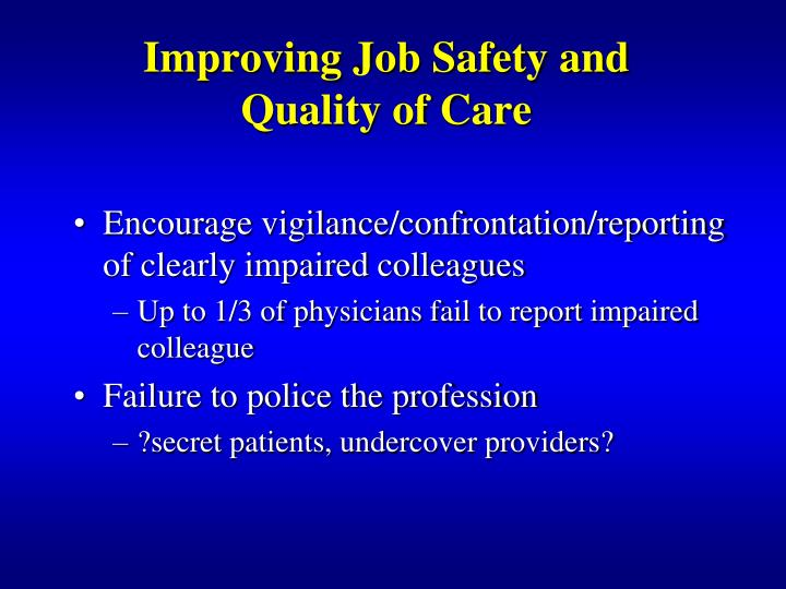 Improving Job Safety and