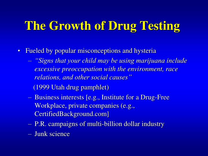 The Growth of Drug Testing