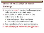 effects of mix design on plastic shrinkage