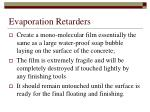 evaporation retarders1