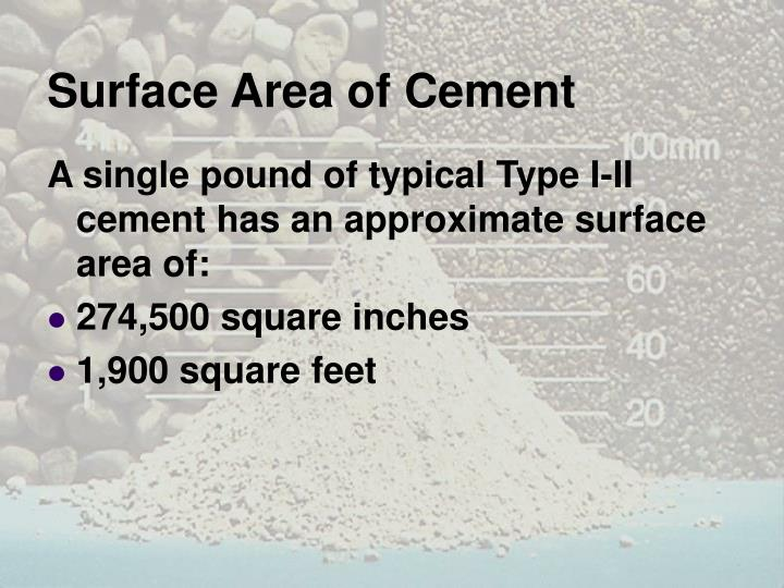 Surface Area of Cement