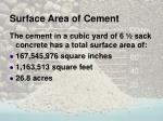 surface area of cement1