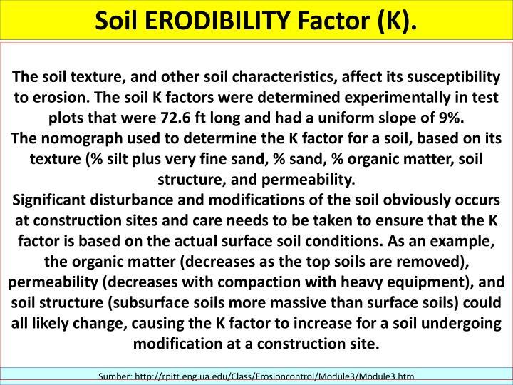 Ppt evaluasi lahan dan indikator lahan powerpoint for Soil k factor