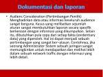 dokumentasi dan laporan1
