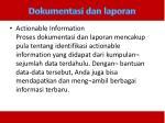 dokumentasi dan laporan2