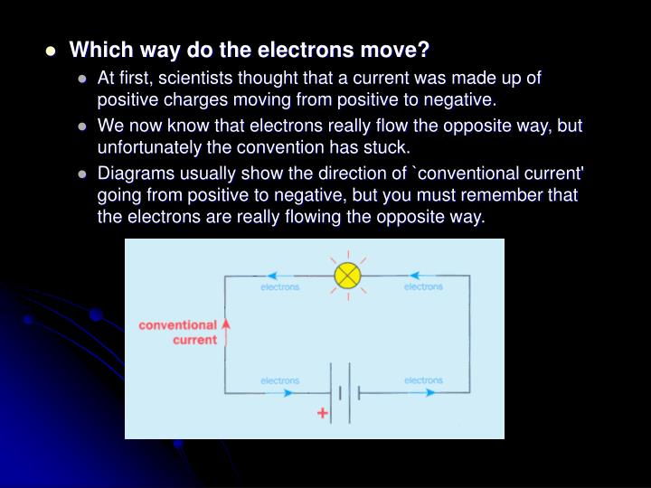 Which way do the electrons move?