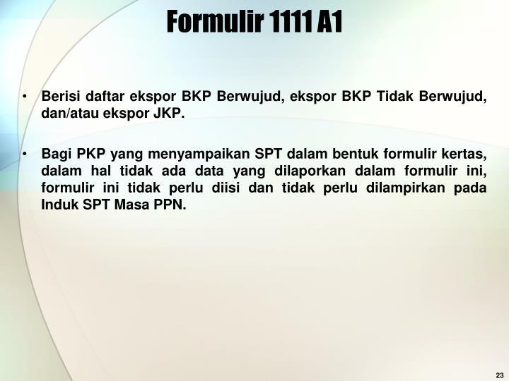 Formulir 1111 A1