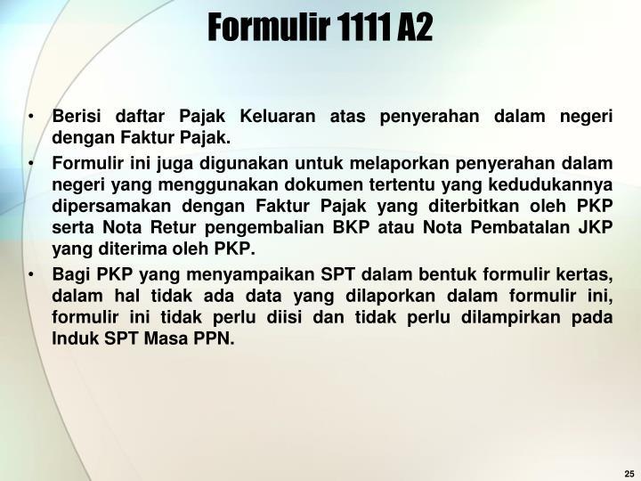 Formulir 1111 A2