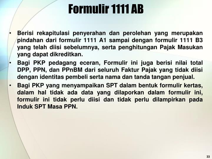 Formulir 1111 AB