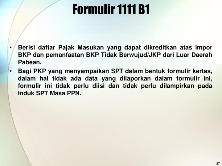 Formulir 1111 B1