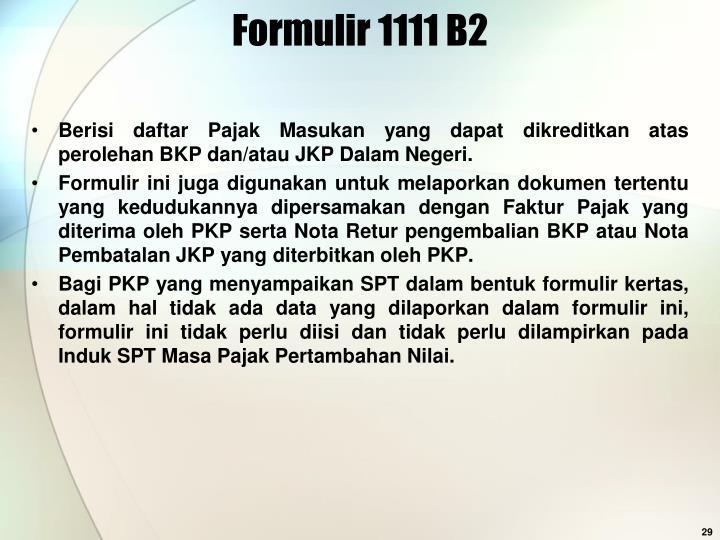 Formulir 1111 B2