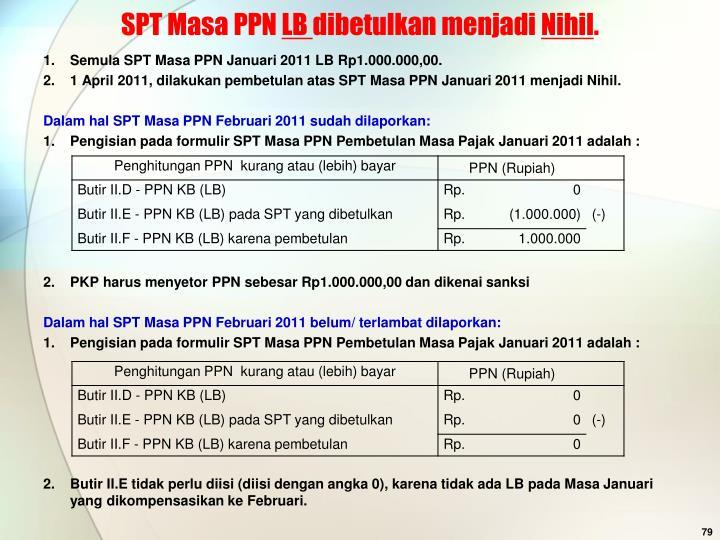 SPT Masa PPN