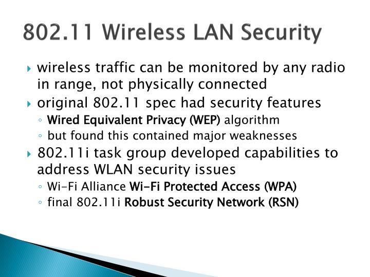 802.11 Wireless LAN Security