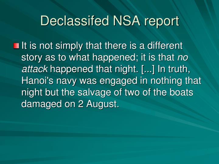 Declassifed NSA report