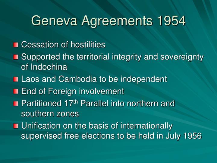 Geneva Agreements 1954