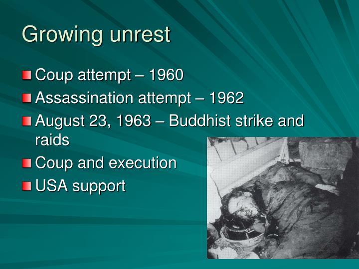 Growing unrest