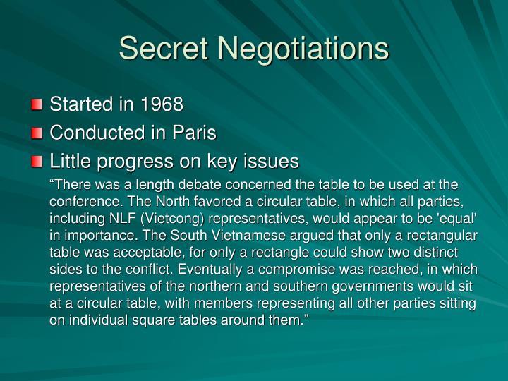 Secret Negotiations