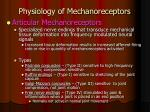 physiology of mechanoreceptors