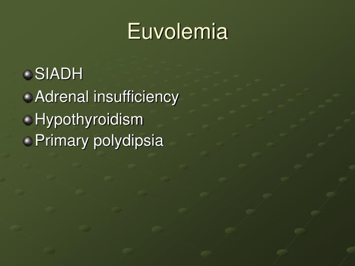 Euvolemia