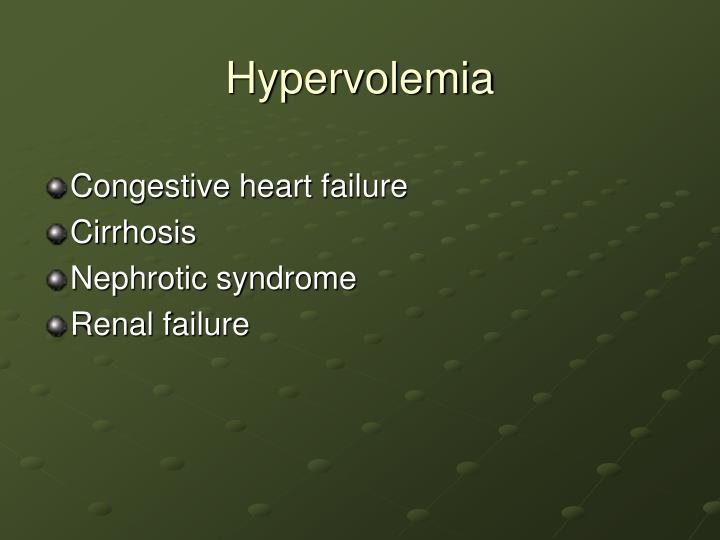 Hypervolemia