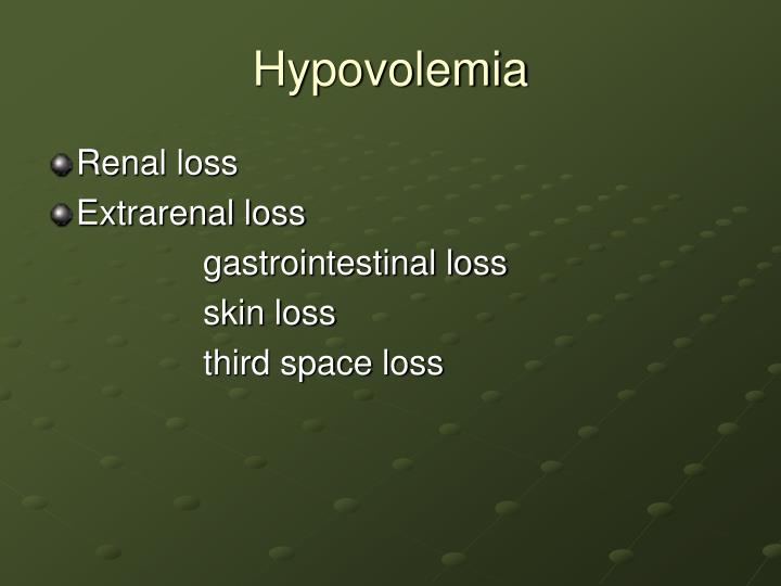 Hypovolemia