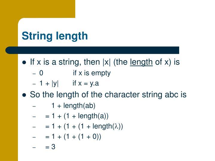 String length
