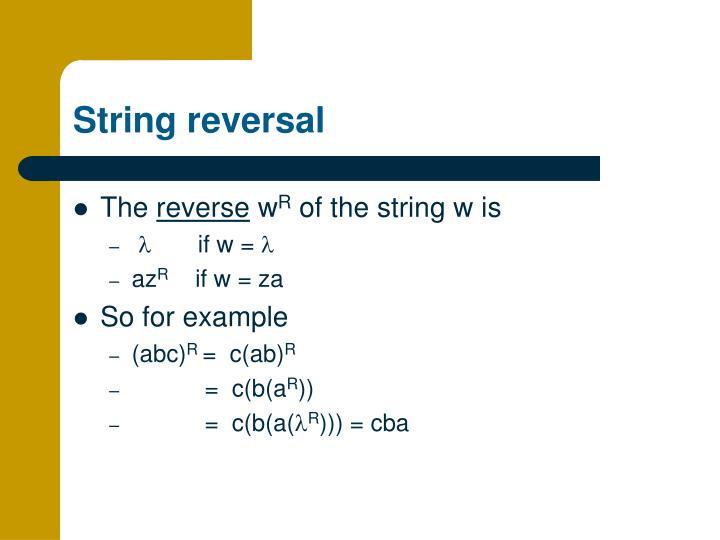 String reversal