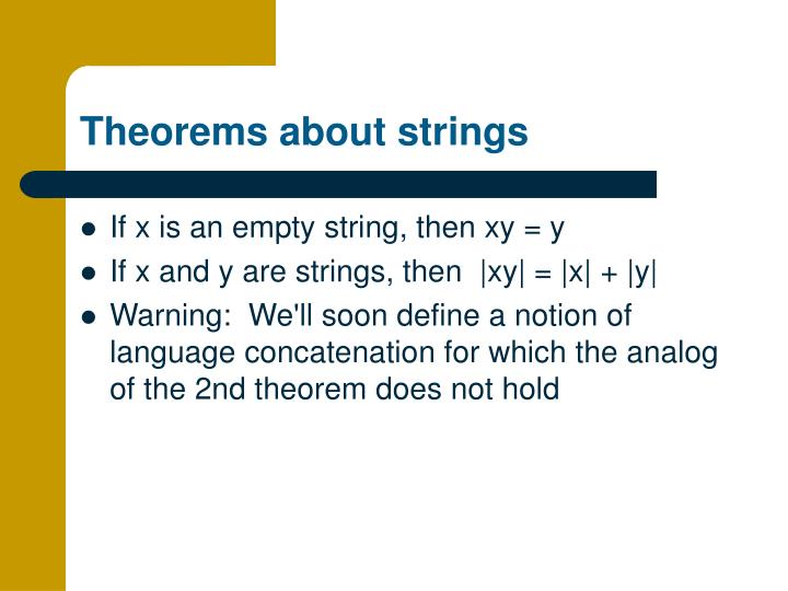 Theorems about strings
