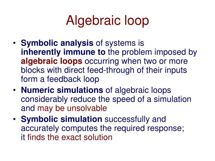 Algebraic loop