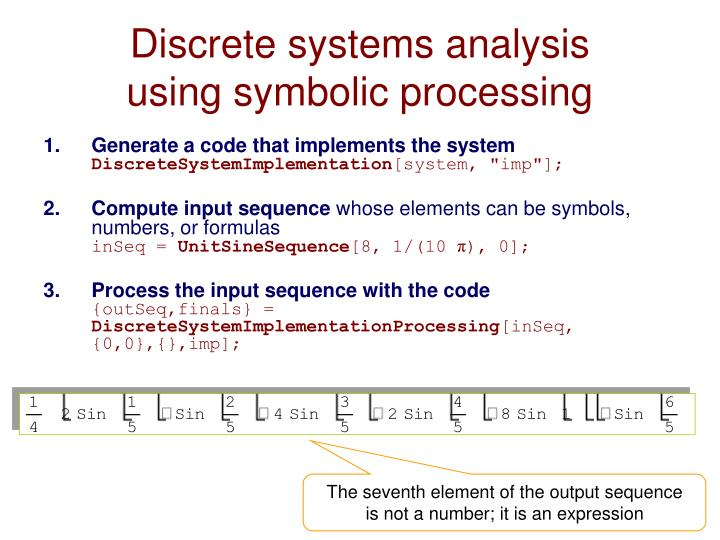 Discrete systems analysis